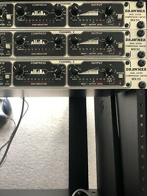 Drawmer MX30 Dual Gated Compressor Limiter. Mint Condition