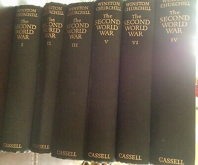 Winston Churchill - The Second World War. Vols 2 - 6. First Editions Vol1second