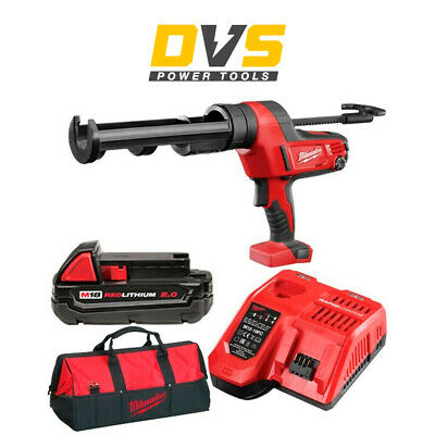 Milwaukee C18PCG310C-201B Cordless 18V M18 Caulking Gun 310ml 2Ah Battery