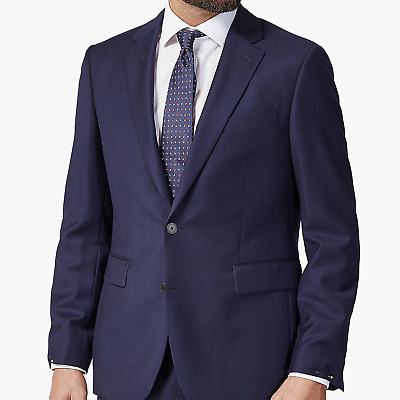 Chester by Chester Barrie Hopsack Wool Tailored Suit Jacket, Navy RRP£225.00