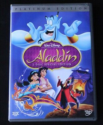Aladdin DVD 2004 2-Disc Set Special Platinum Edition Disney Family Children Kids