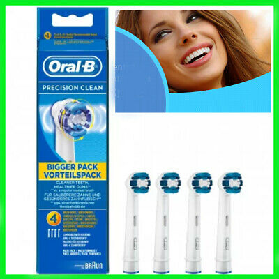 Braun Oral-B PRECISION CLEAN Toothbrush Replacement Brush Heads 4 Pack