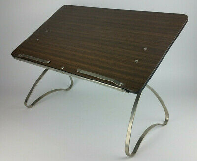 Vtg Lap Desk Podium Portable Lectern Preachers Toastmasters Adjustable Sit Stand