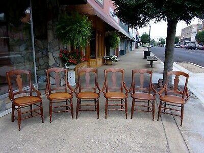 Outstanding Set of Six Victorian Walnut Dining Chairs 20thc.