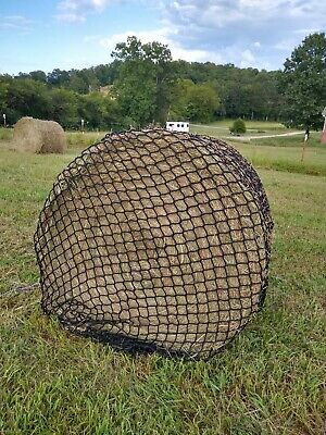 "Round Bale - Slow feed net, 1-1/4"" Heavy Nylon,  by Hay Burners Equine"