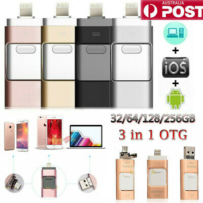 USB i Flash Drive Disk Storage Memory Stick For iPhone PC IOS iPad Android 256GB