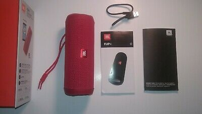Red JBL FLIP 4 Wireless Portable Speaker Bluetooth Waterproof Complete