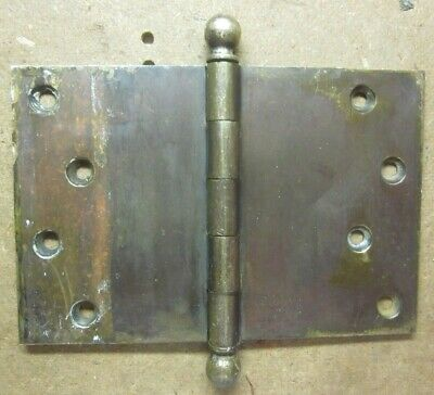 "Antique 4"" X 6"" Extra Wide Hinge Ball Tips Solid Brass Mortise Door 5/32"" Thick"