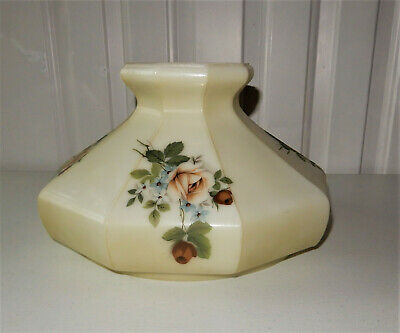 "Aladdin Coleman Oil Lamp Shade B&H Rayo Floral Pattern 9 Panel 10"" fitter"