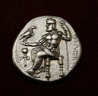 Alexander the Great Drachm. under Philip III RARE Ancient Greek coin Gorgeous