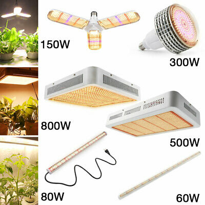 60W-800W LED Grow Light Sunlike Full Spectrum Hydroponics Veg Flower Plant Lamp