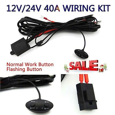 12V 40A REMOTE Control Wiring Harness Strobe Switch Relay ... Wiring V Switch on wiring diagram, electric motor, electrical conduit, electric power distribution, electrical engineering, alternating current, power cord, distribution board, circuit breaker, power cable, earthing system, knob-and-tube wiring, ground and neutral, junction box, three-phase electric power, extension cord, national electrical code,
