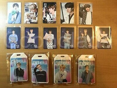 BTS World Soundtrack Official Photocard/Name Tag RM SUGA JHOPE JIN JIMIN V JK