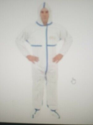 """Viroguard W2404 Case(25)Coverall w/ Hood & Boot """"Large"""""""