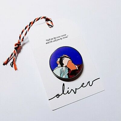 André Aciman Call Me by Your Name CMBYN Oliver Kiss Badge Pin Brooch Rare Set