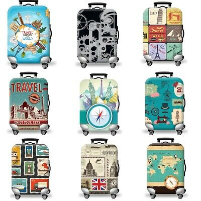 AU 19-29 inch S/M/L Luggage Cover Cartoon Trunk Case Baggage Protective Suitcase