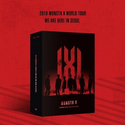 MONSTA X - 2019 WORLD TOUR WE ARE HERE IN SEOUL DVD 3DVD+Photobook+Poster+Gift