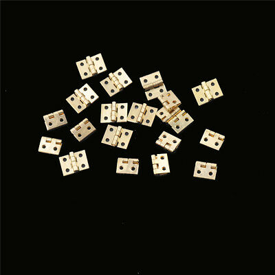 20pcs Mini Brass Plated Hinge Small Decorative Jewelry Cigar Box Hinges XR 3Q