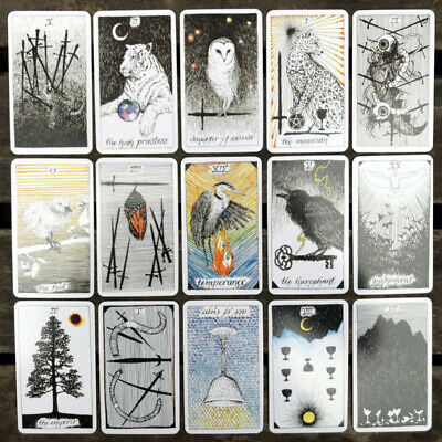 78 Pcs The Wild Unknown Tarot Deck Rider-Waite Oracle Set Fortune Telling Cards