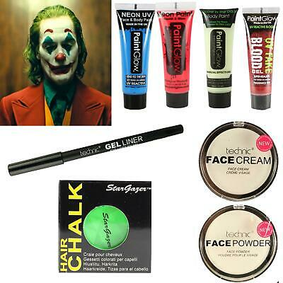 Joker Suicide Squad Halloween Costume Make Up Set Green Hair Dress Up Kit