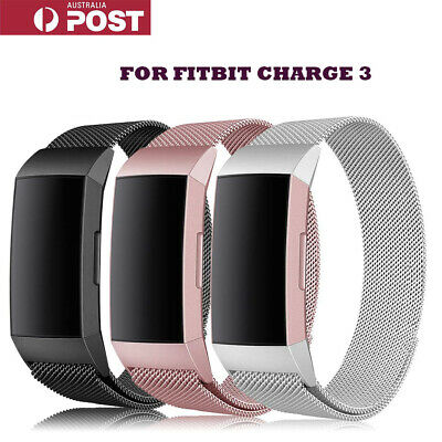 Fitbit Charge 3 Band Stainless Steel Metal Milanese Loop Wristband strap Gift