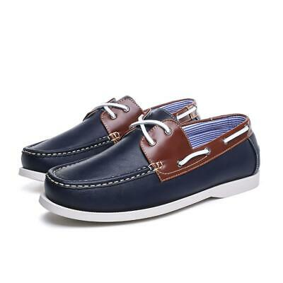 Mens Classic 2 Eye Lace Up Boat Deck Shoes Size UK 7 8 9 10 11