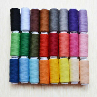 24 Colors Sewing 100% Pure Cotton Thread Home DIY Sewing Tools 6*1.8cm AU Stock