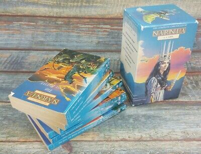 The Chronicles Of Narnia, C.S. Lewis paperback book Complete set used condition