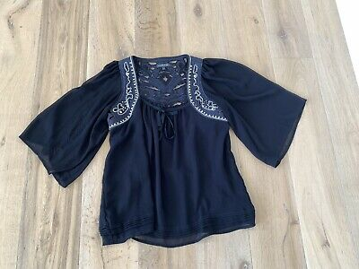 Laurie And Joe Navy Blue Flowy Top Size Large