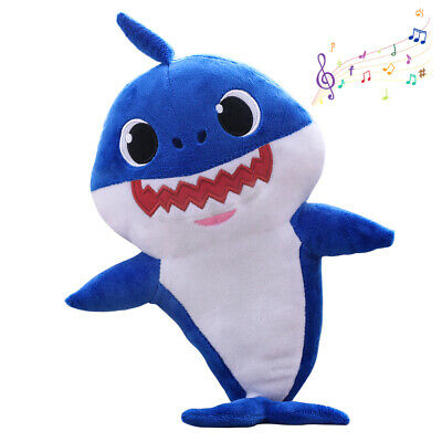 2019 Baby Shark Plush Singing Plush Toys Music Doll English Song Toy Gift Blue