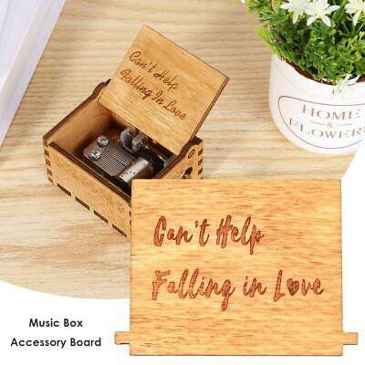 Wooden Hand Cranked Music Box Board Musical Module Accessories Xmas Gift Decor