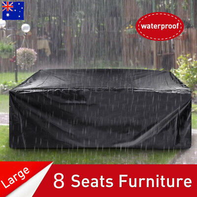 Outdoor Patio Furniture Cover 8 Seater Garden Table Chair Shelter Protector AUS