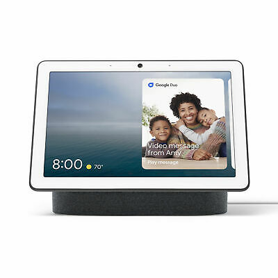 Google Nest Hub Max with Built-in Google Assistant - Charcoal (GA00639-US)
