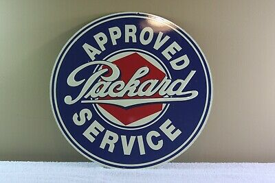 Approved Packard Service Design Reproduction Circle Aluminum Sign