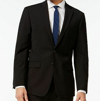 $369 Calvin Klein Mens 42 R Black Extreme Slim Fit Wool Jacket Blazer Sport Coat