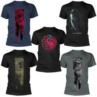 Ufficiale Game Of Thrones Uomo Donna Westerous Casa Flag Nuovo Cotone T-Shirt