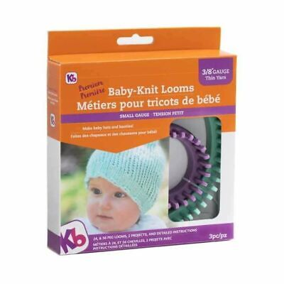 KB Looms Baby Knit Loom Set Small Gauge Knitting Boards 2 Sizes