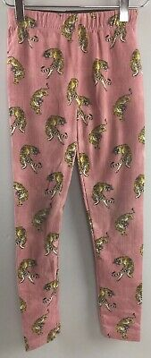 Zara Girls Leggings 11 12 Casual Collection Tigers Pants Red Stripe DD30