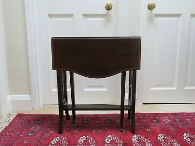 Antique small Victorian Sutherland drop leaf table