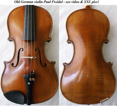 OLD GERMAN VIOLIN PAUL FREIDEL 1926 - video ANTIQUE MASTER バイオリン скрипка 206