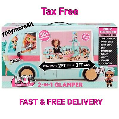 LOL Surprise 2-in-1 Glamper Fashion Camper with 55+ Surprises! LOL Surprise!