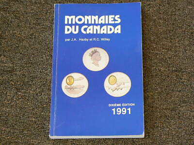 🍁 1991 Monnaies Du Canada Coin Guide by Haxby & Wiley 10th Ed  #4312