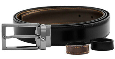 Montblanc Black/Brown Reversible Cut-To-Size Business Belt 118433