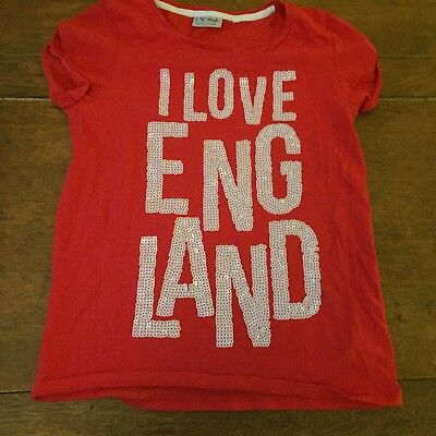 "Next Girls T Shirt  "" I Love England "" Age 11 Years"