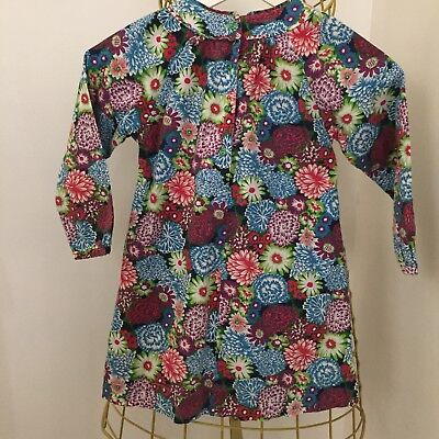 Little Willow Blossom Blue Floral Print Dress Age 5-6 Years