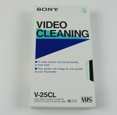 Sony Video Head Cleaning VHS Cassette V-25CL (U-1)