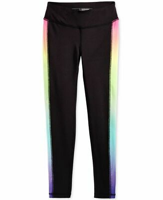 Ideology Girls' Leggings Color Rainbow Ombre Size L-14
