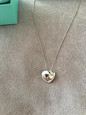 Tiffany & Co Folded Heart Sterling Silver Necklace