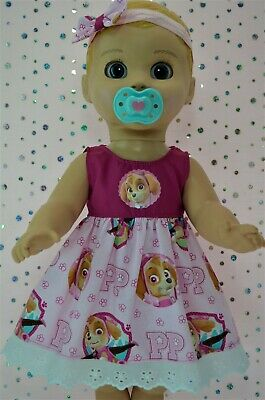 "Play n Wear Dolls Clothes For 17"" Luvabella Doll PLAIN/PATTERN DRESS~HEADBAND"