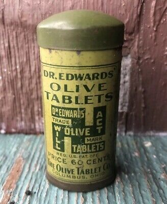 Vintage Dr Edwards Olive Tablets A Pleasent Laxative New Old Stock